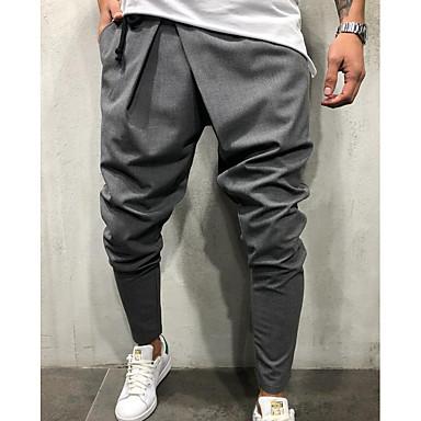 economico Abbigliamento uomo-Per uomo Esagerato Quotidiano Pantaloni della tuta Pantaloni - Tinta unita Blu marino Verde militare Grigio chiaro L XL XXL