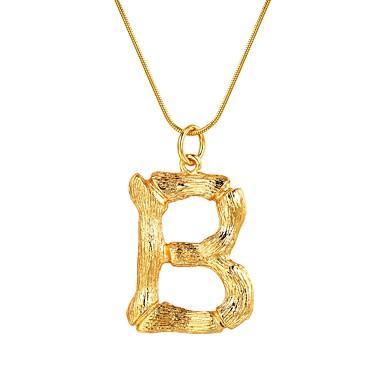billige Mode Halskæde-Dame Navn Halskædevedhæng Alfabetformet Damer Mode Guld Sølv 55 cm Halskæder Smykker 1pc Til Gave Daglig