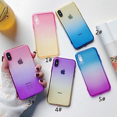 voordelige iPhone X hoesjes-hoesje Voor Apple iPhone XS / iPhone XR / iPhone XS Max Doorzichtig Achterkant Kleurgradatie Zacht TPU