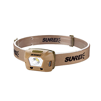 levne Čelovky-Sensor-02 Čelovky bezpečnostní světla LED LED 1 Vysílače 230 lm 4.0 Režim osvětlení s baterií Přenosná Kempování a turistika Každodenní použití Cyklistika Kávová
