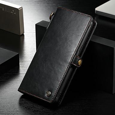 Недорогие Чехлы и кейсы для Galaxy Note-Кейс для Назначение Huawei Note 8 Кошелек / Бумажник для карт / Защита от удара Чехол Однотонный Твердый Кожа PU
