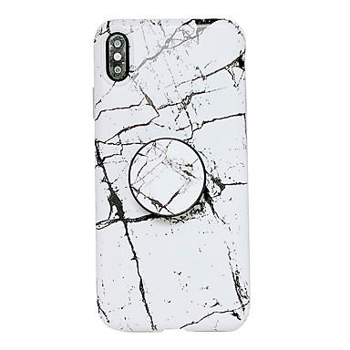 voordelige iPhone X hoesjes-hoesje Voor Apple iPhone XS / iPhone XR / iPhone XS Max met standaard / IMD Achterkant Marmer Zacht TPU