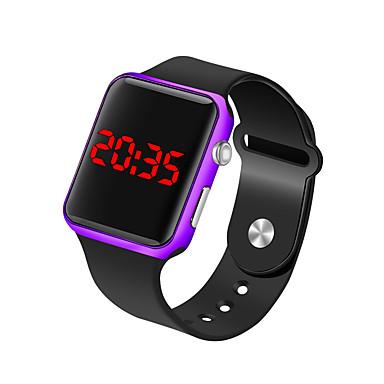 זול שעוני גברים-בגדי ריקוד גברים שעון יד שעון דיגיטלי דיגיטלי סיליקוןריצה שחור 30 m עמיד במים LCD דיגיטלי אופנתי מינימליסטי - פוקסיה כחול זהב ורד