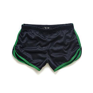billige Herrers Mode Beklædning-Herre Aktiv Tynd / Shorts Bukser - Ensfarvet / Farveblok Gul / Sport / Sommer