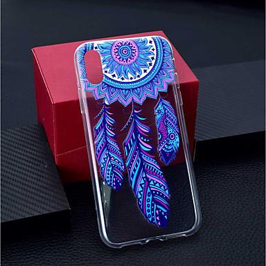 voordelige iPhone 6 Plus hoesjes-hoesje Voor Apple iPhone XS / iPhone XR / iPhone XS Max Transparant / Patroon Achterkant Dromenvanger / Bloem Zacht TPU
