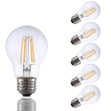 6 pcs gmy a17 led edison ampoule 3.5w led équivalent à ampoule à incandescence 32w avec e26 base 2700k pour chambre salon maison décoratif