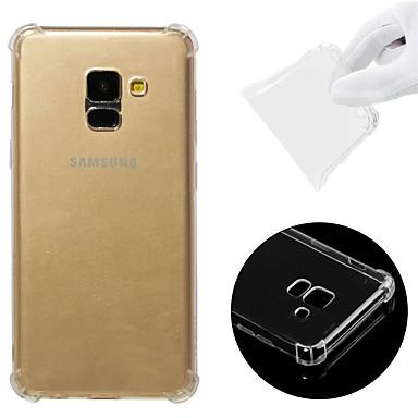 voordelige Galaxy A-serie hoesjes / covers-hoesje Voor Samsung Galaxy A8 2018 Schokbestendig / Transparant Achterkant Effen Zacht TPU