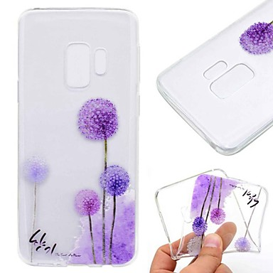 abordables Galaxy S6 Edge Etuis / Couvertures-Coque Pour Samsung Galaxy S9 / S9 Plus / S8 Plus Transparente / Motif Coque Pissenlit Flexible TPU