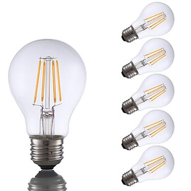 6pcs gmy a19 led edison ampoule 4w led équivalent à ampoule à incandescence 32w avec e26 base 2700k pour chambre salon maison décoratif