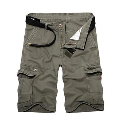 cheap Men's Pants-Men's Basic / Military Daily Loose Shorts Pants - Solid Colored Army Green Khaki Light gray 36 38 37