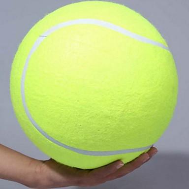 Χαμηλού Κόστους Διακόσμηση Σπιτιού-24cm σκύλος μπάλα τένις γιγαντιαίο κατοικίδιο ζώο παιχνίδι μπάλα τένις μασήστε παιχνίδι υπογραφή mega jumbo παιδιά παιχνίδι μπάλα