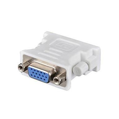 DVI 24 + 1 Adapterkabel, DVI 24 + 1 til VGA Adapterkabel Kvinde mand 1080P Kort (under 20 cm)