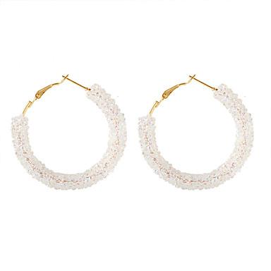 Dámské Klasika Náušnice - Kruhy - Umělé diamanty Jednoduchý korejština Módní Šperky Bílá / Černá / Modrá Pro Párty Rande 1 Pair