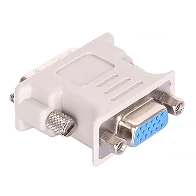 DVI 24 + 5 Adapterkabel, DVI 24 + 5 til VGA Adapterkabel Han - Hun Kort (under 20 cm)
