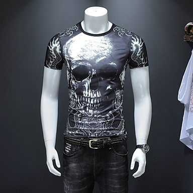 f32892af8200 Χαμηλού Κόστους Ανδρικά μπλουζάκια και φανελάκια-Ανδρικά Μεγάλα Μεγέθη  T-shirt Κλαμπ Κομψό στυλ