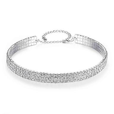 Dámské Tenisový řetězec Tork - Umělé diamanty Evropský, Módní, Elegantní Stříbrná 15.748 inch Náhrdelníky Šperky 1ks Pro Svatební, Zásnuby
