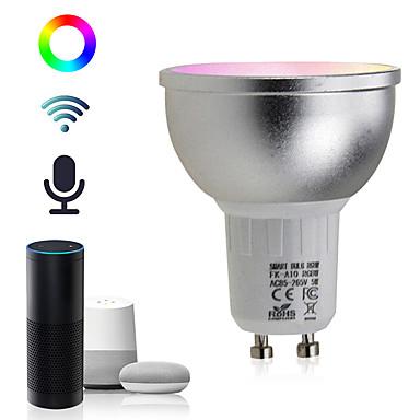 brelong gu10 5w wifi slimme app rgbw led-downlightlamp werk met alexa echo thuishulp ac85-265v