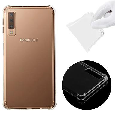 billige Nyheder-Etui Til Samsung Galaxy A7 (2018) Stødsikker / Transparent Bagcover Ensfarvet Blødt TPU for A7(2018)