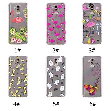 voordelige Huawei Mate hoesjes / covers-hoesje Voor Huawei Huawei Nova 3i / Huawei P20 / Huawei P20 Pro Patroon Achterkant Vlinder / Flamingo / Cartoon Zacht TPU / P10 Plus / P10 Lite / P10