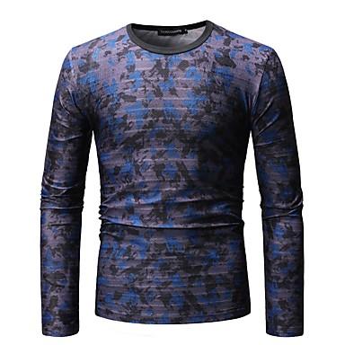 Men's Basic T-shirt - Color Block / Animal Butterfly, Print