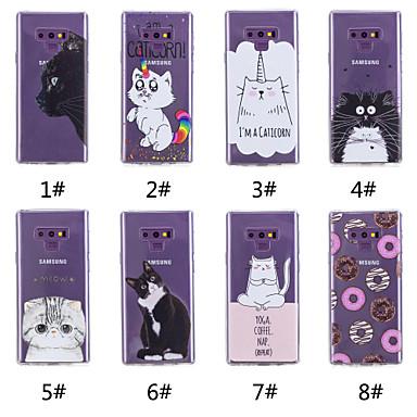 voordelige Galaxy Note-serie hoesjes / covers-hoesje Voor Samsung Galaxy Note 9 / Note 8 Patroon Achterkant Kat / Voedsel / Woord / tekst Zacht TPU