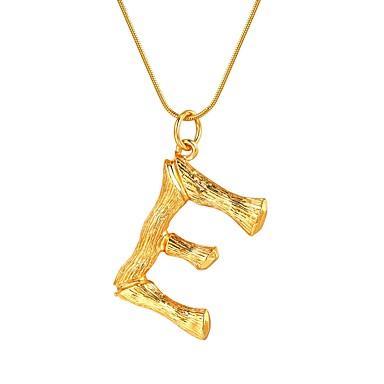 billige Mode Halskæde-Dame Navn X Halskædevedhæng Bogstaver Trendy Mode Moderne Guld Sort Sølv 55 cm Halskæder Smykker 1pc Til Gave Daglig