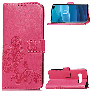 ASLING Case For Samsung Galaxy Galaxy S10 / Galaxy S10 Plus / Galaxy S10 E Wallet / Card Holder / with Stand Full Body Cases Solid Colored Soft PU Leather for Galaxy S10 / Galaxy S10 Plus / Galaxy