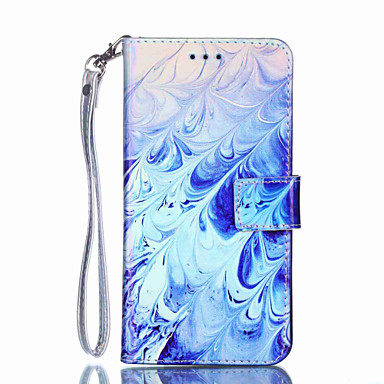 voordelige Galaxy Note-serie hoesjes / covers-hoesje Voor Samsung Galaxy Note 9 / Note 8 Portemonnee / Kaarthouder / Schokbestendig Volledig hoesje Veren Hard PU-nahka