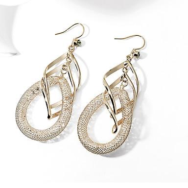 Dámské Visací náušnice - Pozlacené Umělé diamanty Luxus Šperky Zlatá Pro Svatební Párty Večerní oslava 1 Pair