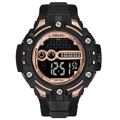 levne Pánské-Pánské Sportovní hodinky Digitální hodinky Digitální Z umělé kůže Černá / Modrá Voděodolné Svítící Digitální Na běžné nošení Módní - Černá / červená Černá / Modrá Černá / Růžové zlato