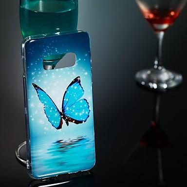 voordelige Galaxy S-serie hoesjes / covers-hoesje Voor Samsung Galaxy S9 / S9 Plus / S8 Plus Glow in the dark / Patroon Achterkant Vlinder Zacht TPU