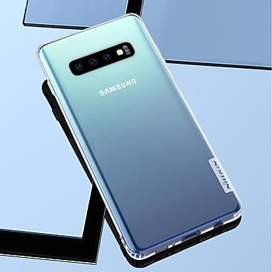 Недорогие Чехлы и кейсы для Galaxy S-Кейс для Назначение SSamsung Galaxy Galaxy S10 / Galaxy S10 Plus / Galaxy S10 E Защита от удара / Прозрачный Кейс на заднюю панель Однотонный Мягкий ТПУ