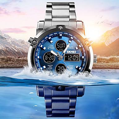 Χαμηλού Κόστους Ανδρικά ρολόγια-Ανδρικά Αθλητικό Ρολόι Στρατιωτικό Ρολόι Ψηφιακό ρολόι Ψηφιακό Ανοξείδωτο Ατσάλι Μαύρο / Ασημί 30 m Ανθεκτικό στο Νερό Συναγερμός Χρονογράφος Αναλογικό-Ψηφιακό Καθημερινό Μοντέρνα - / Ενας χρόνος