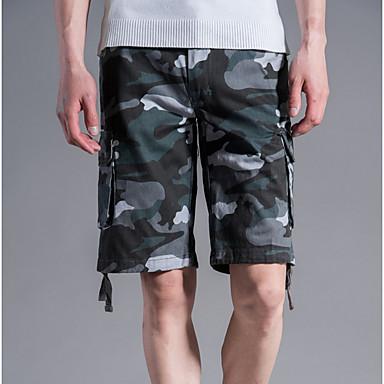 Bărbați De Bază / Militar Mărime Plus Size Zilnic Pantaloni Scurți Pantaloni - camuflaj Gri Verde Militar Kaki 38 42 44