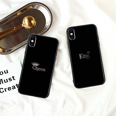 voordelige iPhone 5 hoesjes-hoesje Voor Apple iPhone XS / iPhone XR / iPhone XS Max Patroon Achterkant Woord / tekst / Kleurgradatie Hard Acryl