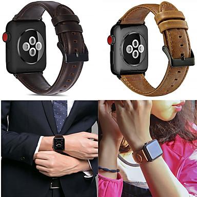 voordelige Smartwatch-accessoires-Horlogeband voor Apple Watch Series 4/3/2/1 Apple Leren lus Echt leer Polsband