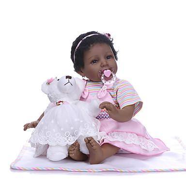 b45dbfe91 NPKCOLLECTION دمى ريبورن الأطفال البنات 24 بوصة هدية عالية الجودة زرع  الاصطناعي عيون بني في طفل
