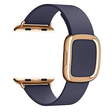 voordelige Smartwatch-accessoires-Horlogeband voor Apple Watch Series 5/4/3/2/1 / Apple Watch Series 4 Apple Moderne gesp Echt leer Polsband