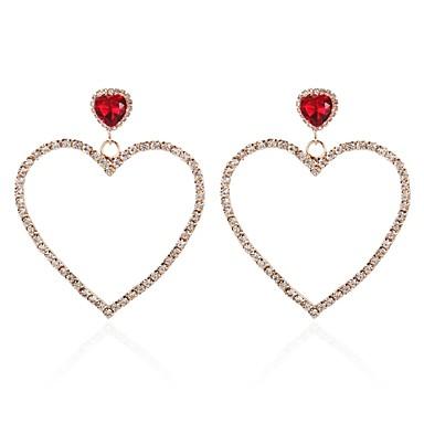 c34e23958 Women's White Crystal Hollow Out Earrings Imitation Pearl Earrings Heart  Korean Modern Cute Jewelry Gold /