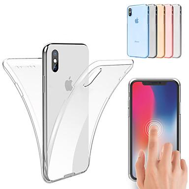 voordelige iPhone 6 hoesjes-hoesje Voor Apple iPhone XS / iPhone XR / iPhone XS Max Schokbestendig / Ultradun / Transparant Volledig hoesje Effen Zacht TPU