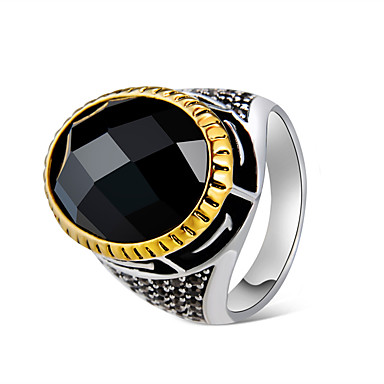 cheap Rings-Men's Couple's Black Crystal Classic