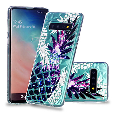 Case For Samsung Galaxy Galaxy S10 Plus / Galaxy S10 E Shockproof / Transparent / Pattern Back Cover Fruit Soft TPU for S9 / S9 Plus / S8 Plus