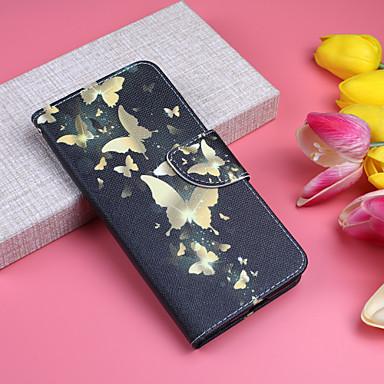 Carcasă Pro Apple iPhone XS / iPhone XS Max Peněženka / Pouzdro na karty / se stojánkem Celý kryt Motýl Pevné PU kůže pro iPhone XS / iPhone XR / iPhone XS Max