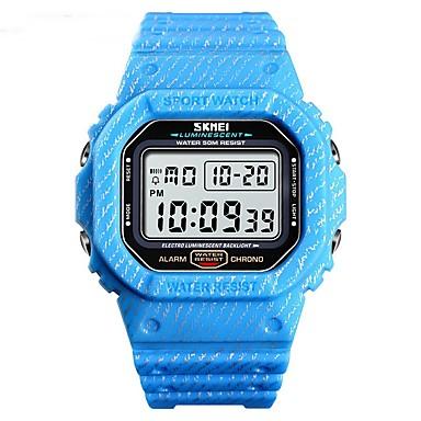 Χαμηλού Κόστους Ανδρικά ρολόγια-SKMEI Ανδρικά Στρατιωτικό Ρολόι Ψηφιακό σιλικόνη Πράσινο / Γκρι / Χακί 50 m Ανθεκτικό στο Νερό Ημερολόγιο Χρονόμετρο Ψηφιακό Καθημερινό Νέα άφιξη - Μπλε Απαλό Χακί Πράσινο Ανοικτό