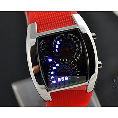 levne Pánské-Pánské Sportovní hodinky Digitální Silikon Černá / Bílá / Modrá Svítící Hodinky na běžné nošení Cool Digitální Na běžné nošení Módní - Oranžovo červená Modrá Světle modrá Jeden rok Životnost baterie
