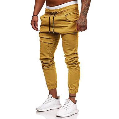 economico Abbigliamento uomo-Per uomo / Per donna Essenziale / Moda città Chino / Pantaloni della tuta Pantaloni - Tinta unita Cotone Grigio scuro Verde militare Cachi XL XXL XXXL