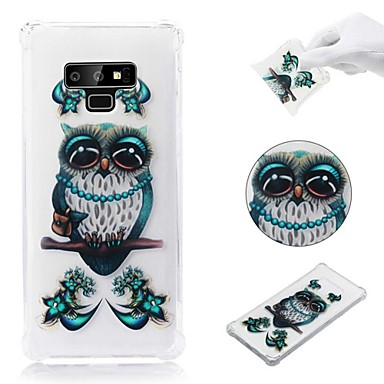 voordelige Galaxy Note-serie hoesjes / covers-hoesje Voor Samsung Galaxy Note 9 / Note 8 Schokbestendig / Transparant / Patroon Achterkant Uil Zacht TPU