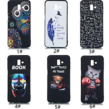 voordelige Galaxy J-serie hoesjes / covers-hoesje Voor Samsung Galaxy J7 Prime / J5 Prime / J6 (2018) Ultradun / Patroon Achterkant dier / Cartoon / Veren Zacht TPU