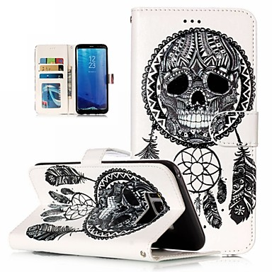 Недорогие Чехлы и кейсы для Galaxy S6-Кейс для Назначение SSamsung Galaxy S9 Plus / S8 Plus / S8 Кошелек / Защита от удара / Стразы Чехол Мандала / Черепа / Цветы Твердый Кожа PU