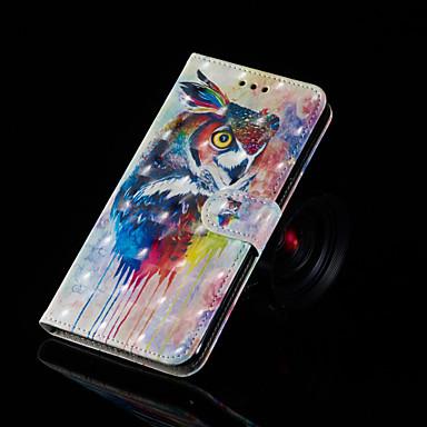 voordelige Galaxy J-serie hoesjes / covers-hoesje Voor Samsung Galaxy J7 Prime / J7 (2017) / J7 (2016) Portemonnee / Kaarthouder / met standaard Volledig hoesje Uil Hard PU-nahka